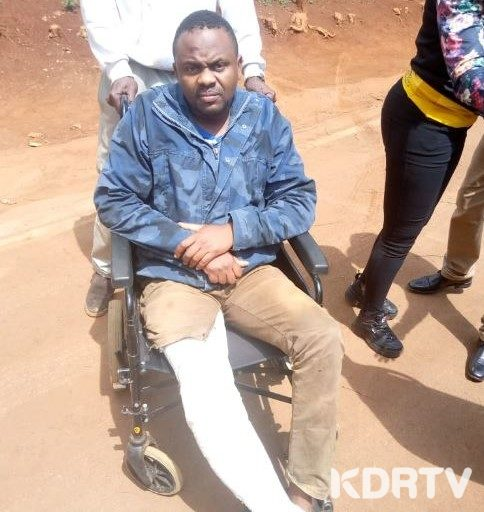 Police Constable Samuel Ndungu Receiving Treatment After Assault by Boss.