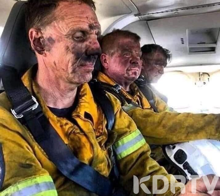 Wounded firefighters evacuated