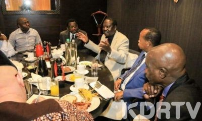 Raila Odinga with leaders from Central Kenya