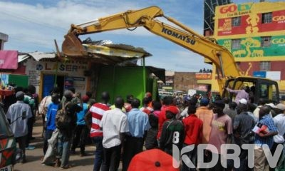 Traders In Kakamega Town Are Counting As County Government Demolishes Illegal Structures