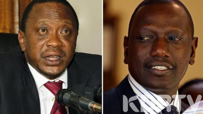 Uhuru and Ruto in happier days