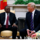 The US Presiednt Donald Trump Called Uhuru Kenyatta to offer his support for the battle against coronavirus